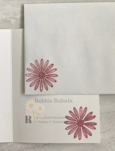 These cute daisies are the perfect embellishment for the Dry Embossing for an Accent on your Handmade Card. Click the photo to see the video showing how it was created.