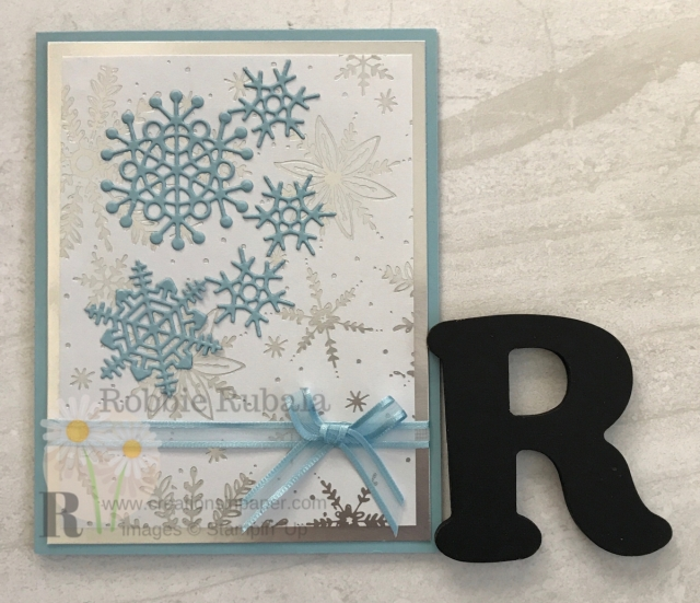 Snowflake cards are fun to make. Silver makes them extra pretty. Check out this Stampin' Up Feels Like Frost Snowflakes creation by clicking through.