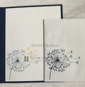 Did you know the Dandelion Wishes stamp set goes with a pretty designer series paper? Check out my Feels Like Frost with Night of Navy idea. Click the photo.
