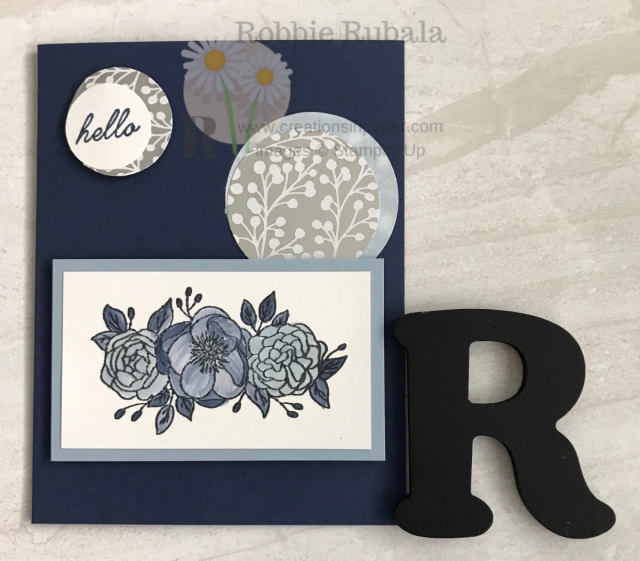 A pretty creation in tones of blue and some circle elements. Learn how I colored this image for the Fast and Fabulous Feels Like Frost card on my blog.