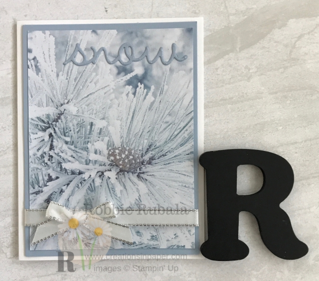 When the paper is gorgeous it is easy to create a beautiful card. Check out this Feels Like Frost Quick and Easy creation by clicking through.