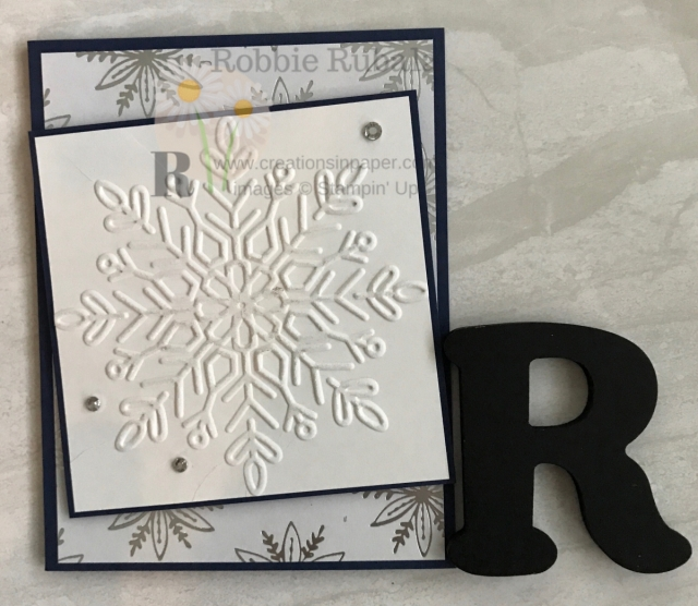 Do you have retired embossing folders in your stash? This #ShopYourCraftStash creation uses a retired folder. Take a look at this beautiful Feels Like Frost and Winter Wonder creation.