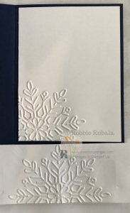 Ever used your embossing folder on your envelope? Imagine all the possibilities. See the card front for my Feels Like Frost and Winter Wonder creation.