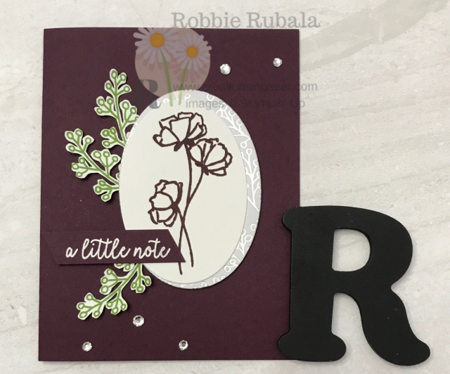 A beautiful card that uses that gorgeous paper. See the details for this Love What You Do and Feels Like Frost dsp.