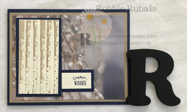 Masculine cards need to be simple with few embellishments. The Winter Woods with Feels Like Frost dsp is a great example. Don't miss all the information about it.