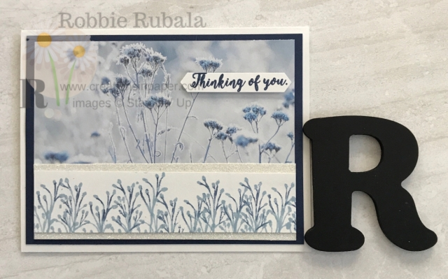 A beautiful blue #ShopYourCraftStash Feels Like Frost creation is easy to do. Don't miss the retired stamp set used to create this easy card.