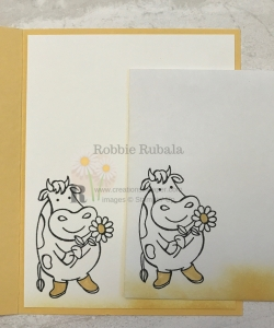 Isn't this cow so cute? She makes a great card front for my Over the Moon Udderly Fantastic.