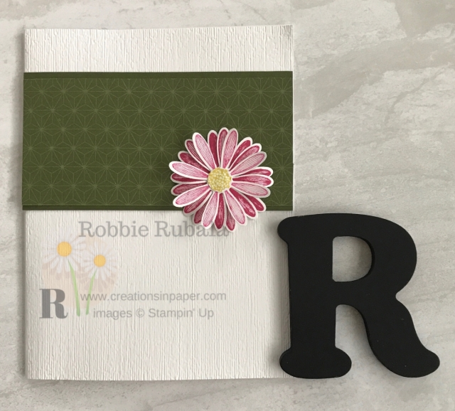 This is a pretty clean and simple card. Check out the video for this Clean and Simple Daisy Lane Bundle.