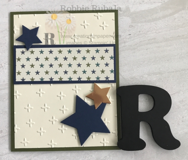 This would be a great congratulations card! I did some #ShopYourCraftStash for this idea using the Sparkle embossing folder and Stars dies. Check out the details for my Brightly Gleaming Stars creation.