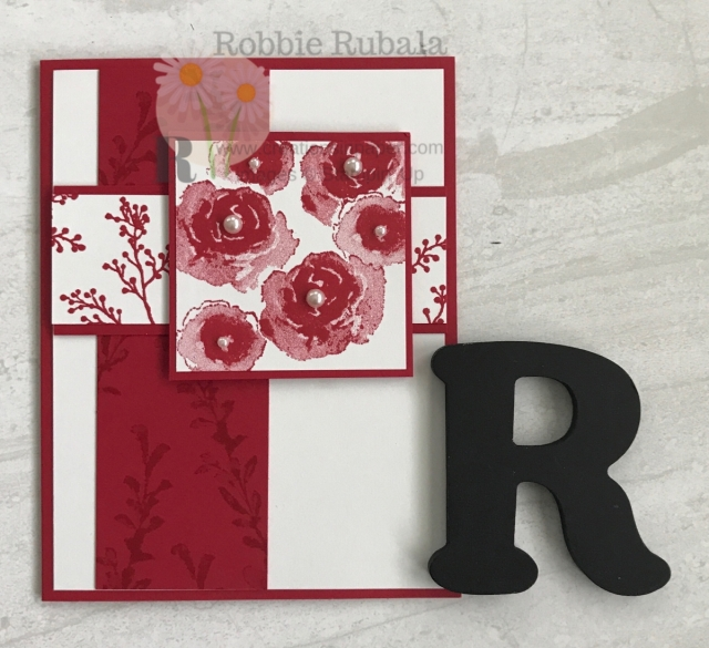 A feminine Stampin' Up One Color First Frost is the share today. Get all the details so you can make your version.