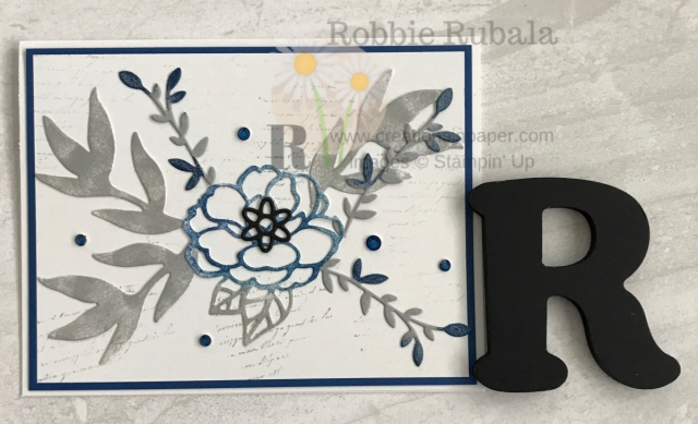 Who would have thought that Blueberry Bushel and Smoky Slate would be a great combination for a card. Look at this Stampin' Up Sponged Die Cuts creation and how well the 2 colors look together.