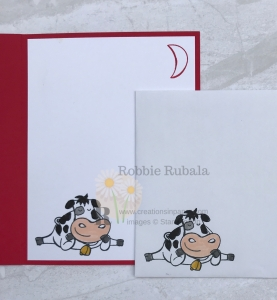 This cow makes the perfect card front. Take a look at the Stampin' Up Let It Snow Ideas creation for the details.