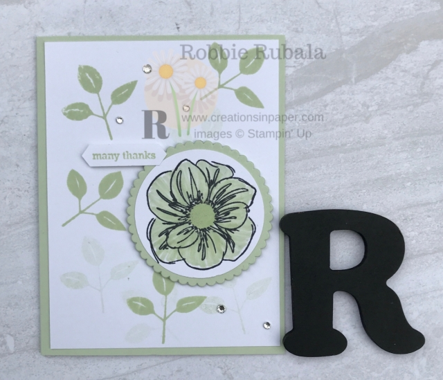 Glycerin coloring can add a lot to an image. Learn how I used it on my Stampin' Up Floral Essence in Soft Sea Foam creation.