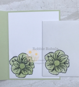 Don't miss the video showing how to use glycerin coloring on this Stampin' Up Floral Essence in Soft Sea Foam creation.