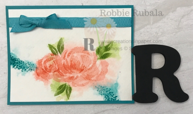 Faux watercolor creates a great look. Don't miss my video for this Beautiful Friendship Watercolor Technique creation.