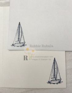 I used this great sailboat for a masculine card. Get the details for my Wrapped in Plaid Sailing Home creation.