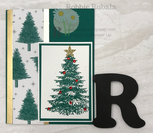 Oh Christmas Tree, Oh Christmas Tree a fun card using some tree paper for the Hand Stamped Sentiments Inspiration Tree idea.