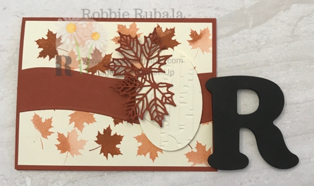 This is a fun card that is easy to make. Check out the Colorful Seasons in Cajun Craze idea for a great Fall card.