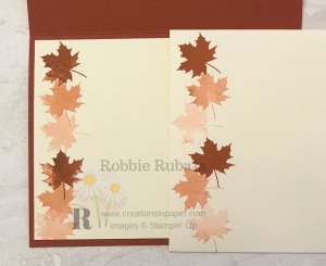 These Fall leaves create a great background for my Colorful Seasons in Cajun Craze card. See the video by clicking the photo.