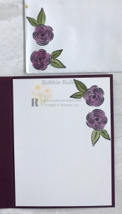 The gorgeous glycerin colored flowers make the perfect Clean and Simple Thinking of You card. Get the details so you can make your version.