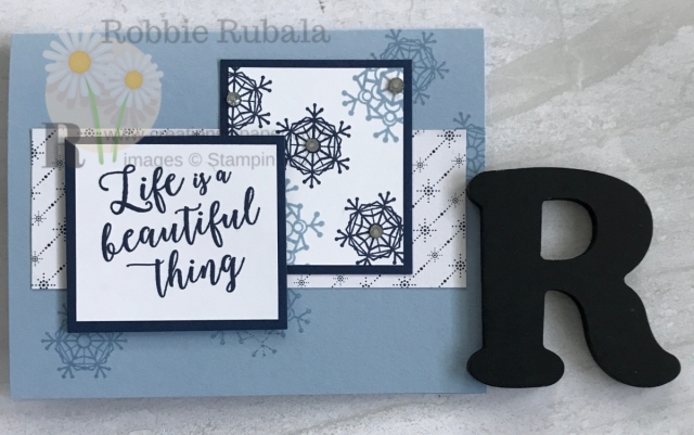 I love snowflakes! Each one is unique and individual. Learn how I used them with the Wrapped in Plaid dsp to create this Fast & Fabulous Snowflakes card.