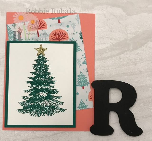 Do you wonder how you can get different color combinations? Check out the Let It Snow Winter Woods creation that uses a color combination from the designer series paper.