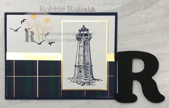 Need an idea for a quick masculine card? Check out this Sailing Home in Wrapped in Plaid idea that is so easy to create.