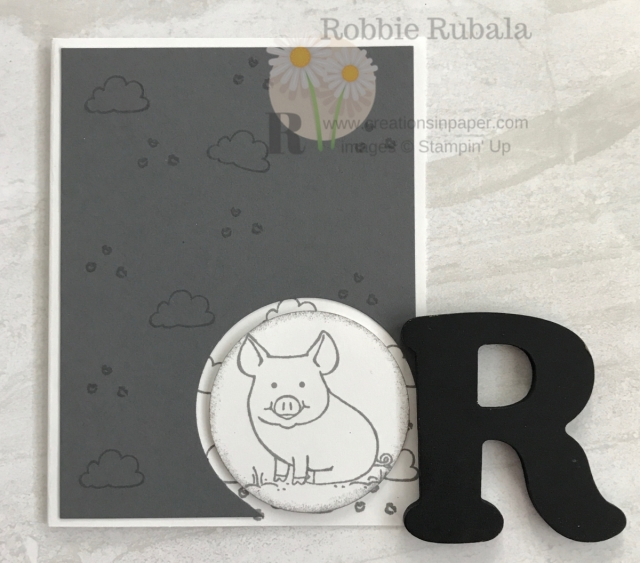 The images in this set are so cute. They make great children's cards. Check out this Stampin' Up This Little Piggy in Basic Gray idea.