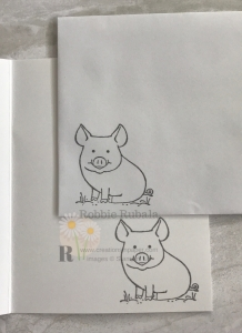 This adorable pig is perfect for the children's card Stampin' Up This Little Piggy in Basic Gray. Get the information to make one yourself.
