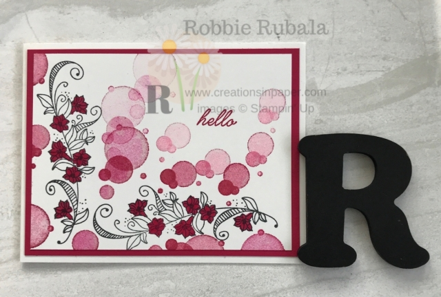 I love bubbles! My Beauty Abounds in Lovely Lipstick uses bubbles for a fun All Occasion card.