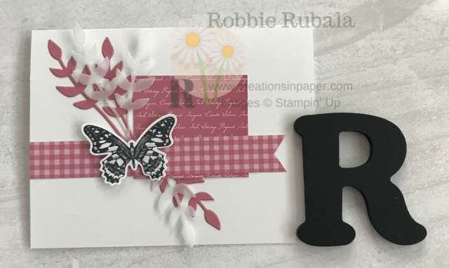 The new In Colors are fun to create with. Check out this beautiful Butterfly Wishes in Ricoco Rose idea using one of the new colors.