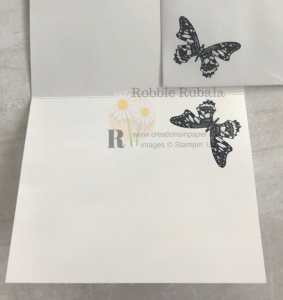 I love this butterfly as it has lots of detail. I used it for the card front for my Butterfly Wishes in Ricoco Rose creation.