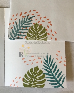 These images work well with some new designer series paper. Find out the details for the Tropical Chic Works Well With Tropical Oasis card.