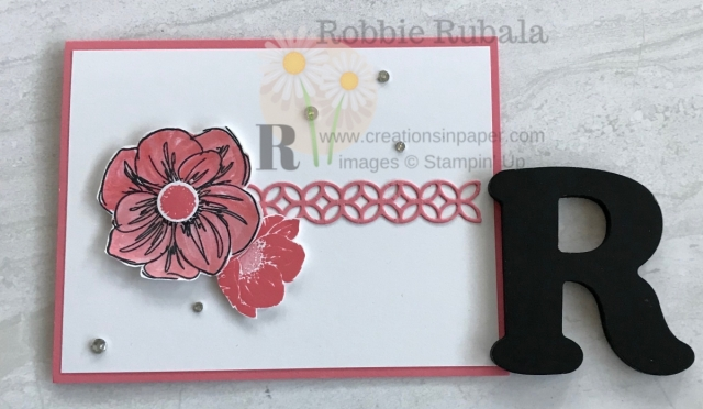 A simple card today so you can see how you can make a great card with one color and one stamp set. Check out the video for this One Color Wonder ~ Floral Essence creation.