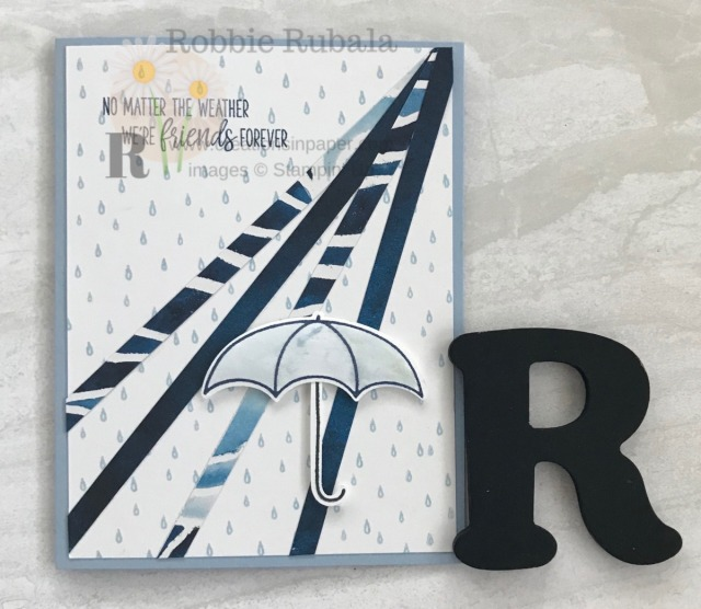This card was so fun to make. The sentiment is perfect for a great friend. Check out the video for my Umbrella Weather Friends creation.