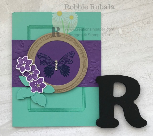 Adding layers adds lots of interest to your card. Check out this Fast and Fabulous Swirly Frames card that has lots of layers.