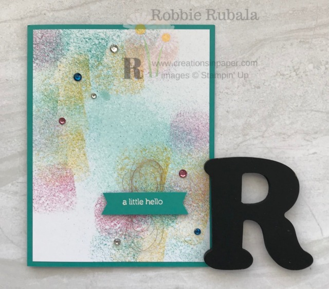 Sponging can be used to create a great background. Check out the video for this 10 Minute Sponged Card which is a quick and easy idea.