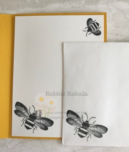 Aren't these bees very detailed? This stamp set makes a great Honey Bee Bundle Idea.