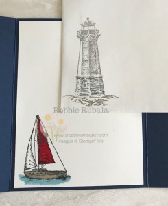 I used these images to make my Fast and Fabulous Sailing Home gate fold card with a fancy edge. Check out the card front to see it.