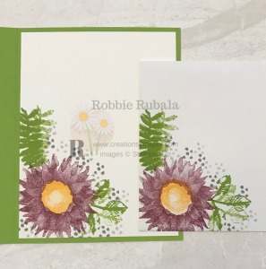 These images make a great One Sheet Wonder with a twist. See the card front for the One Sheet Painted Harvest card.