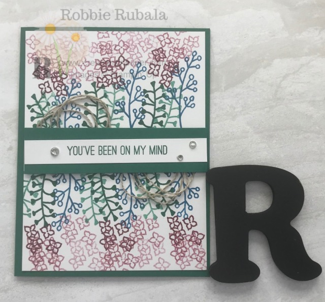 Sometimes you just start stamping and playing and before you know it you have fun card. The Love What You Do Idea is a result of just playing around with an idea.