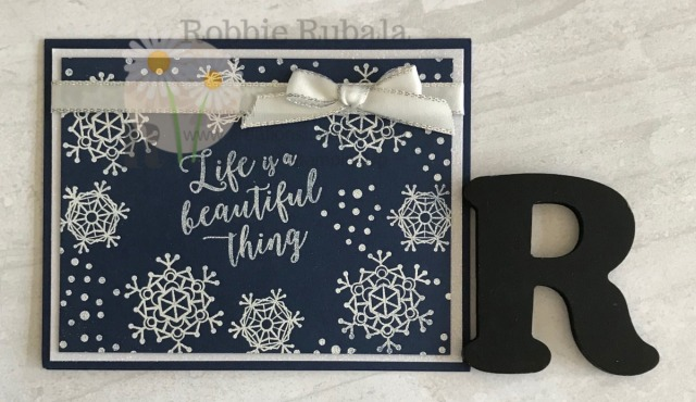 Inspiration photos are a great way to get ideas for your cards. Check out this card that was I created for my Snow Collage Inspiration photo.