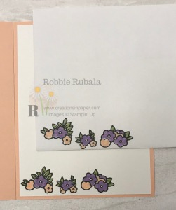 The sweet little flower clusters make the perfect edge for a cute Under My Umbrella Best Dressed card.