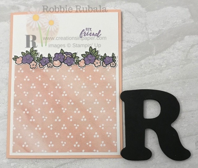 This card is so sweet. It is easy to do with a little fussy cutting of the flower clusters. See all the details for the Under My Umbrella Best Dressed creation.