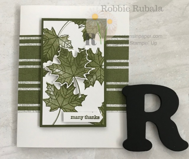 A quick thank you card can be a challenge. Check out this idea for a One Color Many Thanks creation.