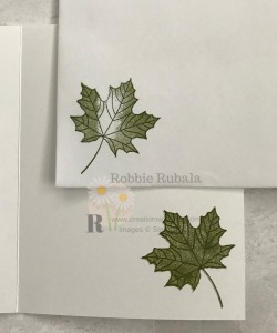 This leaf image is great for any season. See my One Color Many Thanks creation to see a great masculine thanks card.