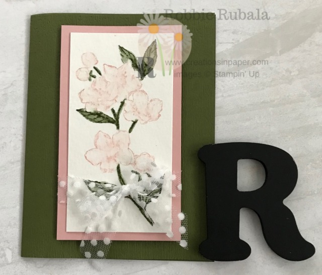 Isn't this a pretty card? This Feminine Watercolor Forever Blossoms creation was created using a fun technique. All the details can be seen on the blog.