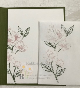 The Forever Blossoms stamp set is great for the faux watercolor technique. Get the details for the Feminine Watercolor Forever Blossoms creation by clicking through.