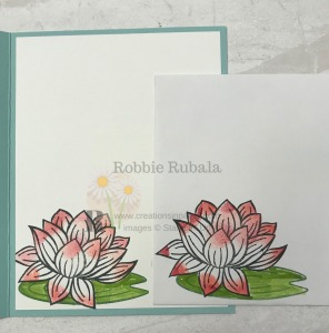 This image makes a great element for a card. The best part is the products used for the Lily Pad Inspiration card were free with a qualifying order. Check out the details.