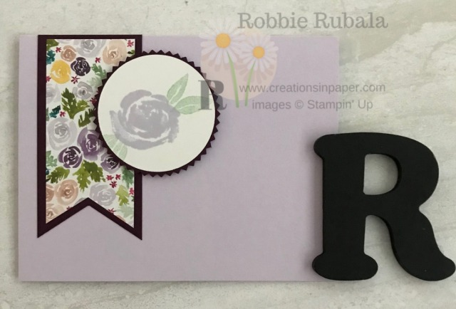 Did you know the Beautiful Friendship stamp set goes with the Best Dressed designer series paper. Check out the card and the details to see how they match.